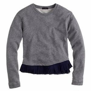 J.Crew Ruffle-hem sweatshirt- Size 8